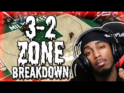 OFFICIAL BEST DEFENSE TUTORIAL L HOW TO RUN A AMAZING 3-2 ZONE IN NBA 2K20 MYTEAM!