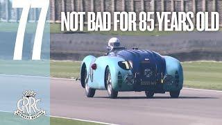 85-year-old Bugatti flies around Goodwood