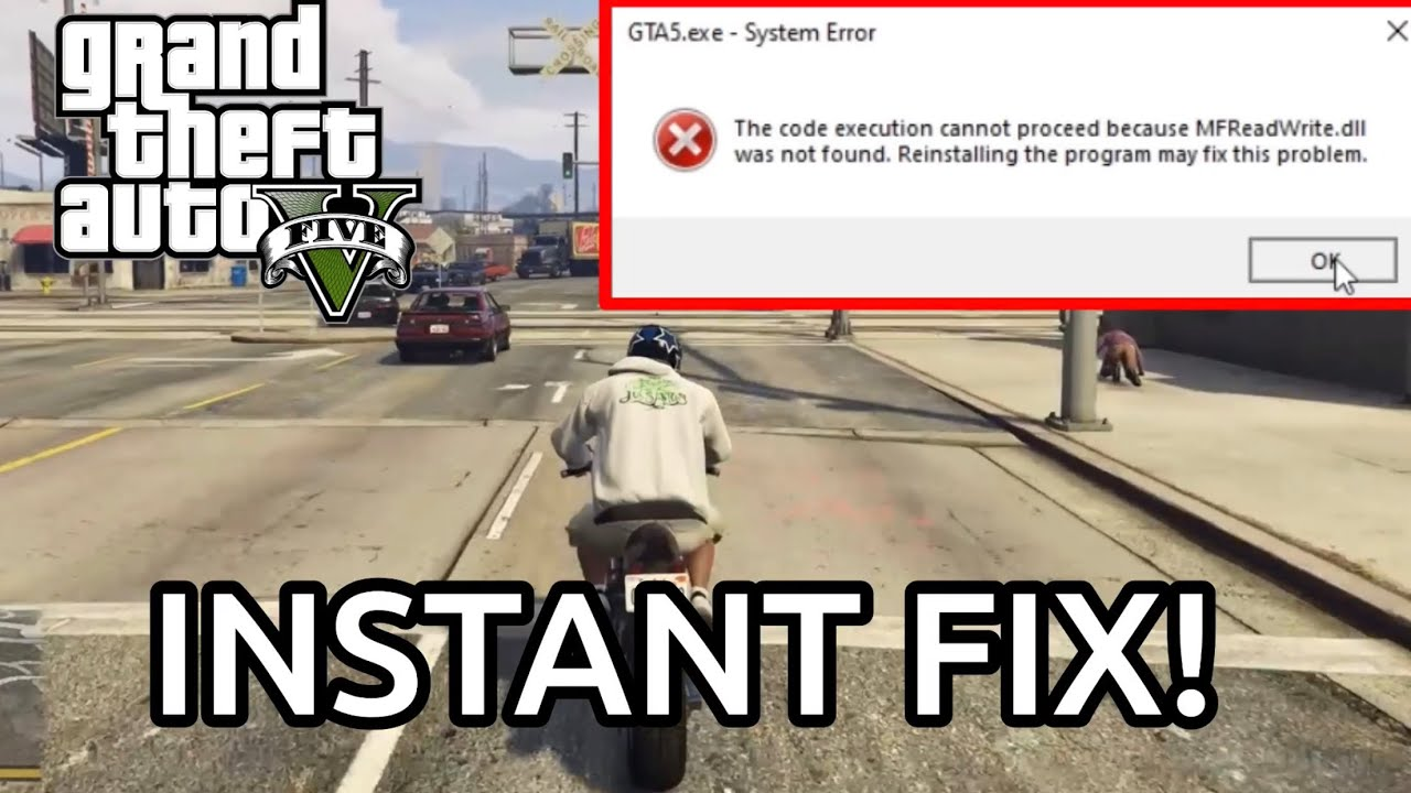 GTA 5 DLL was not found error GUARANTEED FIX!