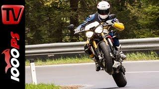 Triumph Speed Triple R Test 2016 | Motorrad Quartett | Action, Design, Details