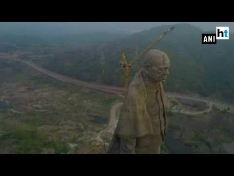 Watch: Glimpse of world's tallest statue of Sardar Vallabhbhai Patel
