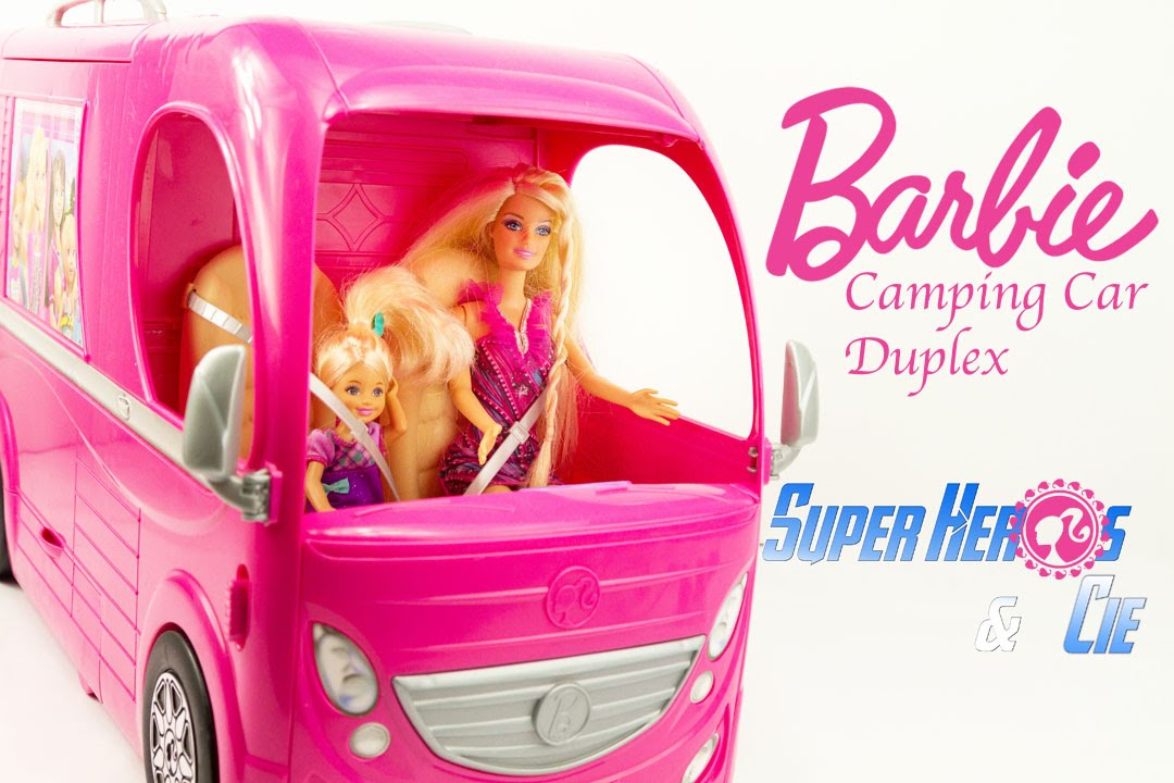 Jouet Barbie Camping Car Duplex Pop Up Camper Van RV