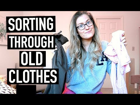 SPRING CLEANING: Sorting Through Old Clothes!!