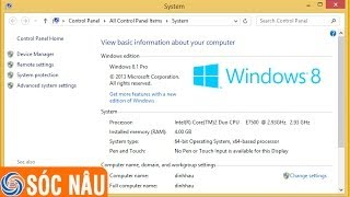 Cách xem cấu hình máy tính trên Windows 8