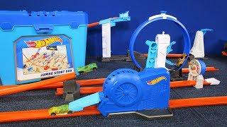 JUMBO Stunt Box! Hot Wheels Track Builder Tub with 50+ Parts!
