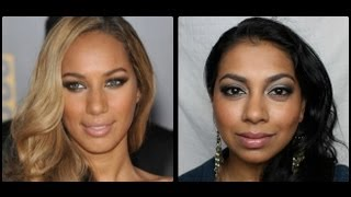 Leona Lewis Inspired Makeup (Olive Green Smoky Eyes)