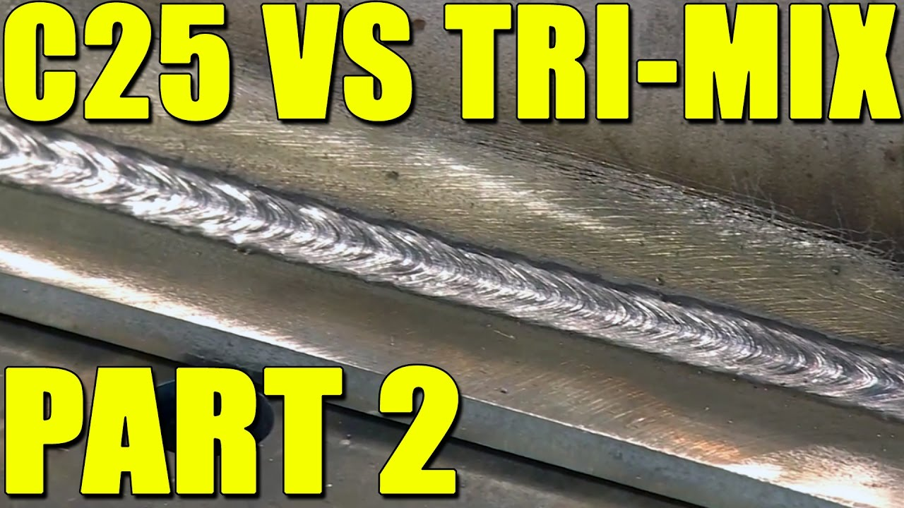 MIG Welding Stainless Steel with Tri Mix Gas - YouTube