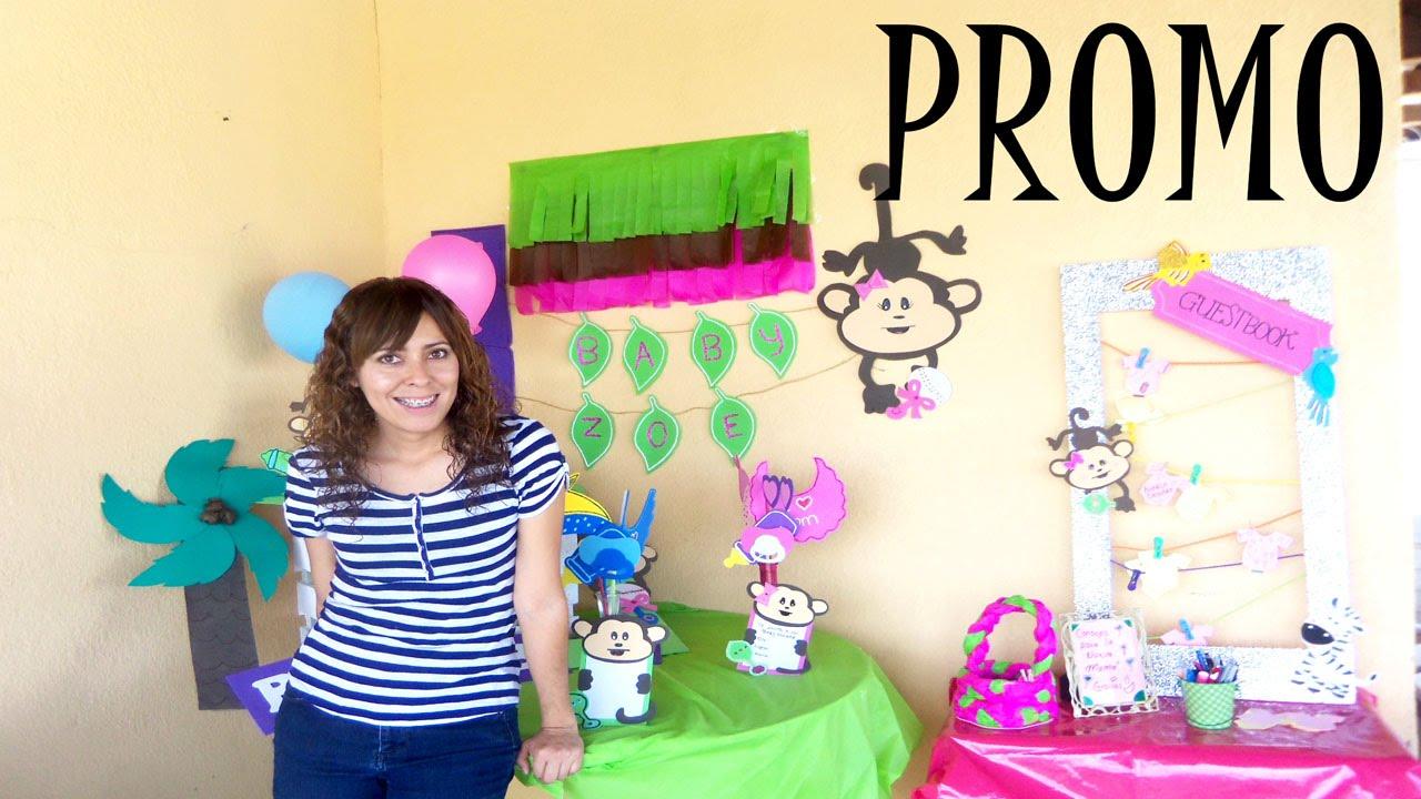 Todo para baby shower combo decoraci n fiesta youtube for Todo decoracion