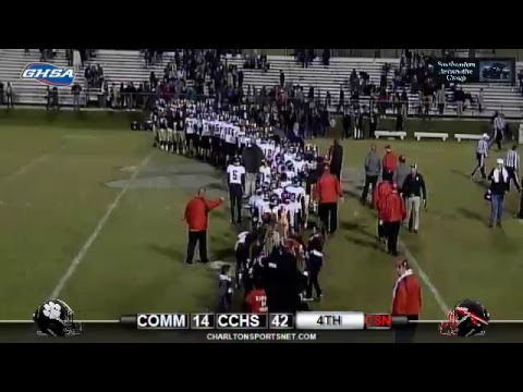 2017 Football Indians vs Commerce Rnd 2 GHSA Playoffs