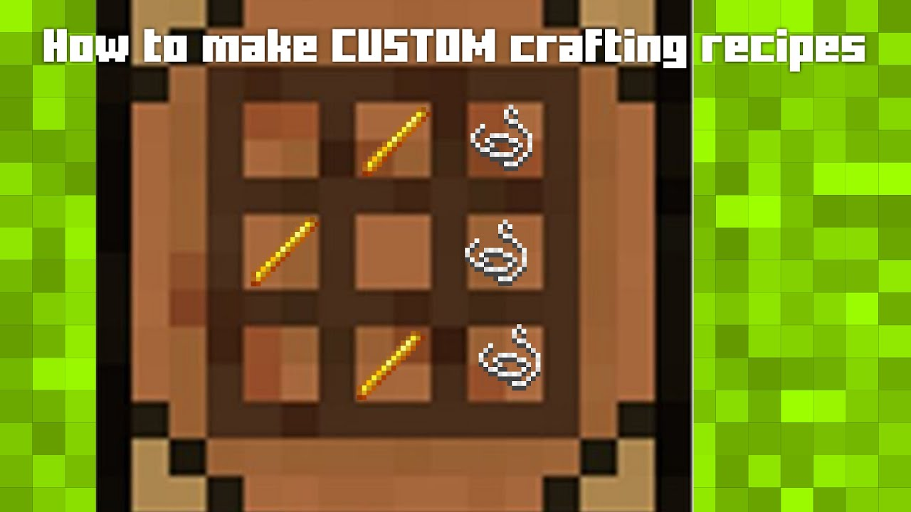 How To Get Custom Crafting Recipes Minecraft