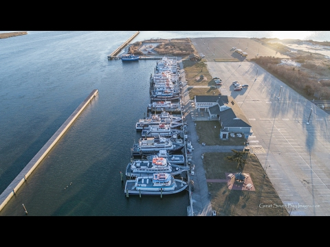 Drone over Captree Boat Basin 2-4-17