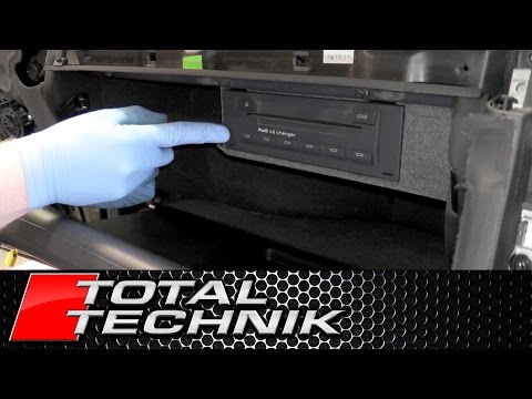 How to Remove CD Changer (Glove Box/Compartment Model) - Audi A4 S4 RS4 - B6 B7 - TOTAL TECHNIK