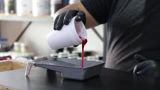 Aplicación de Porcelanato Liquido + Pigmentos. Tecnica Pouring. www.doctor-obra.com/videos