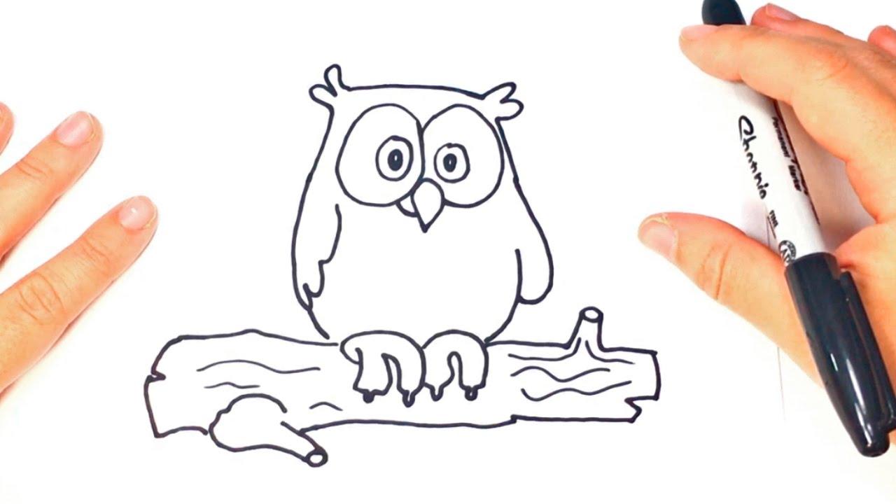 Como dibujar un buho paso a paso dibujo facil de buho for Comedor facil de dibujar
