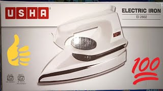 USHA Electric Iron El 2802 Unboxing & Review Usha Electronic Iron Electric Iron Usha