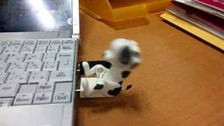 腹筋する犬です。USBで駆動します。それ以外に機能ナシ。