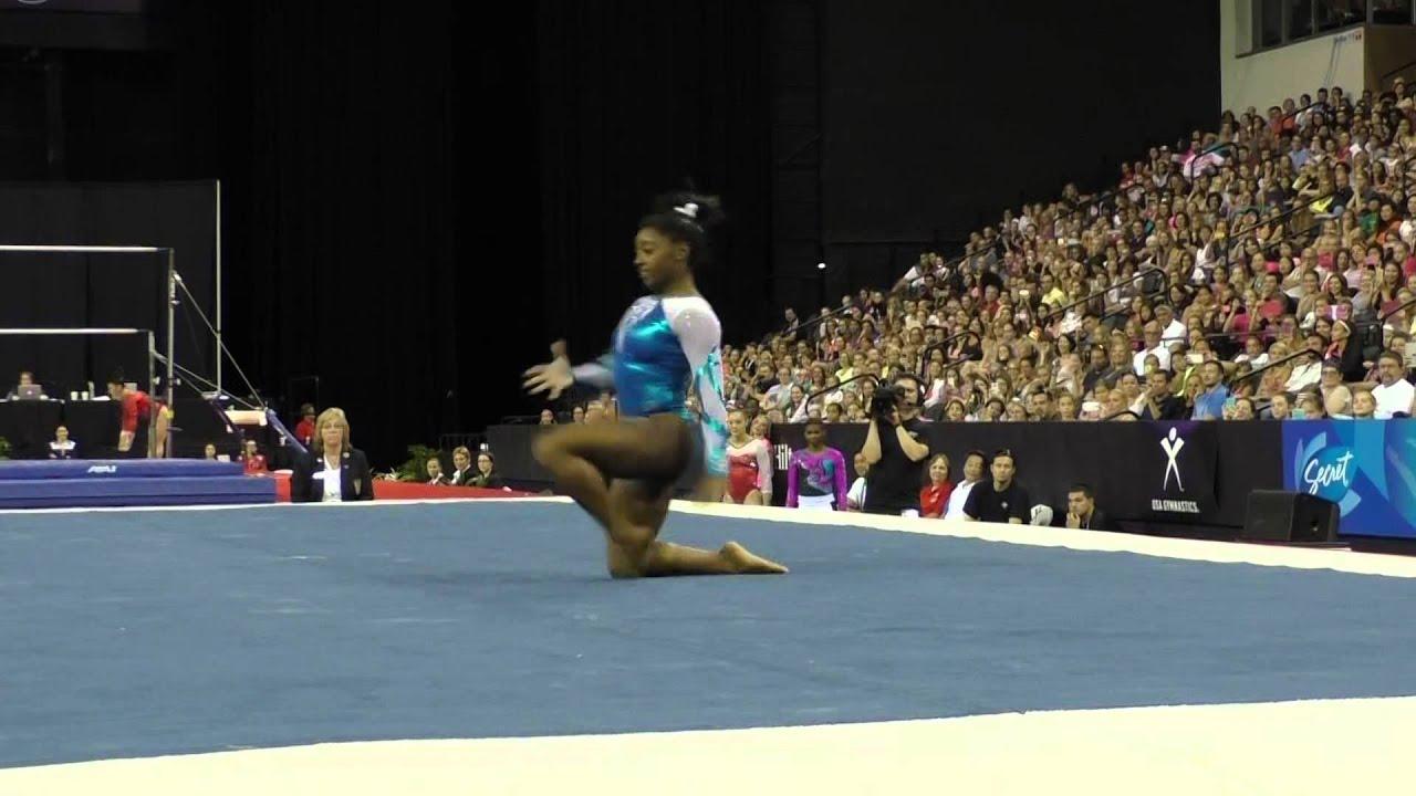 Simone Biles Floor Exercise Secret US Classic