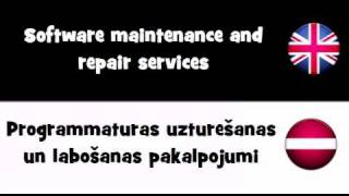 VOCABULARY IN 20 LANGUAGES = Software maintenance and repair services