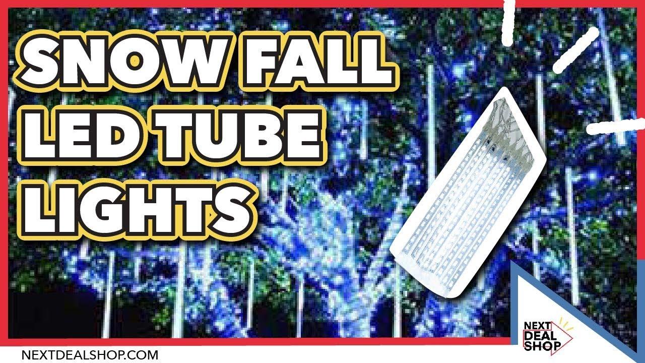 Snow Fall Led Tube Lights Create Magical Light Displays