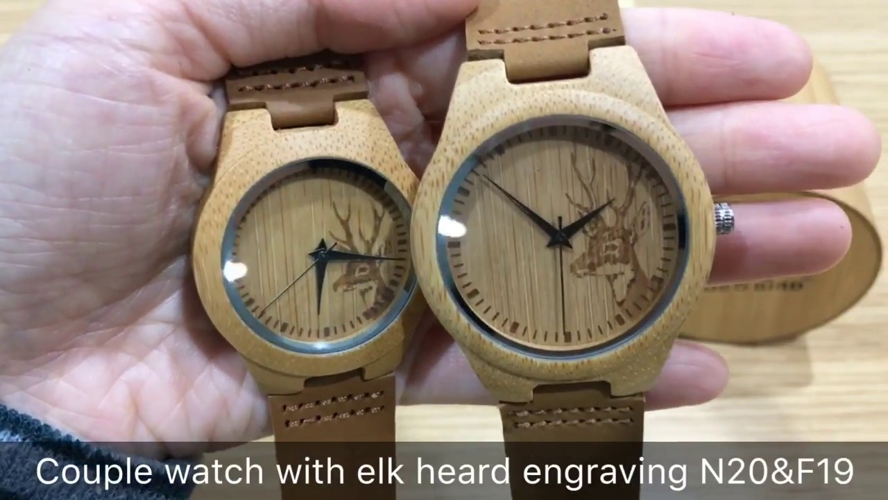 fc29278ce4c BOBO BIRD Couple watch with unique elk head engraving - YouTube