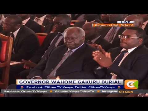 Retired Pres. Mwai Kibaki eulogises Late Governor Gakuru thru' DP Ruto