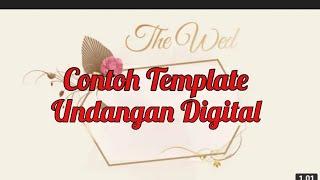 Contoh undangan digital Terbaru || Link Download Deskripsi