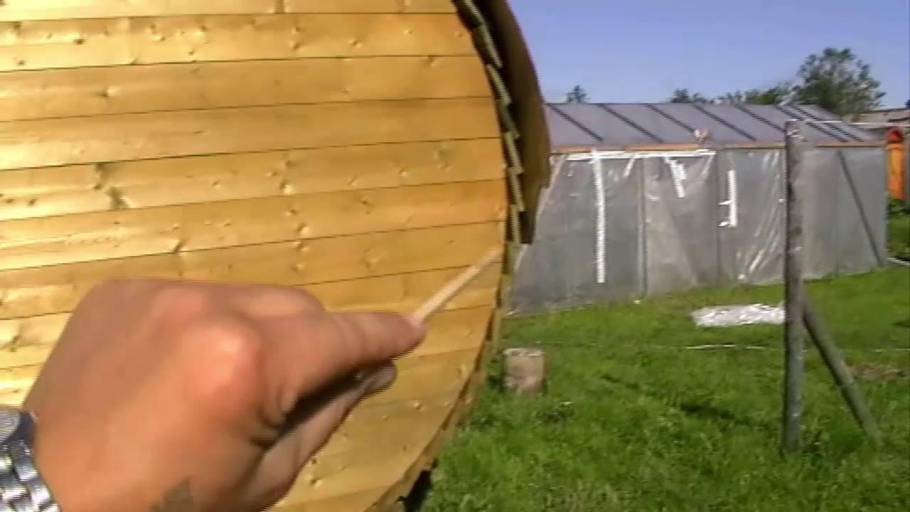 Баня бочка своими руками видео фото 815