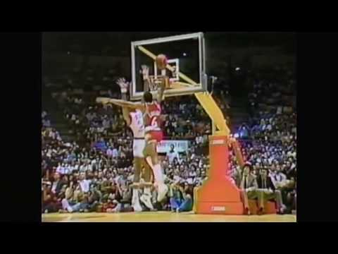 Julius Erving Posterizes Artis Gilmore (1983 All-Star Game)
