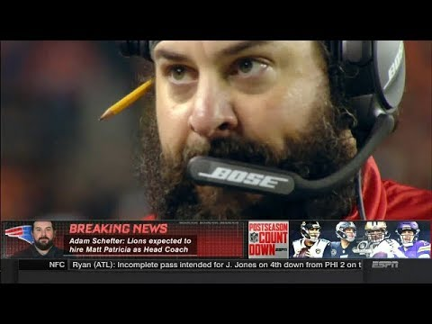 Lions Expected to Hire Matt Patricia as Head Coach | NFL Countdown | Jan 14, 2018