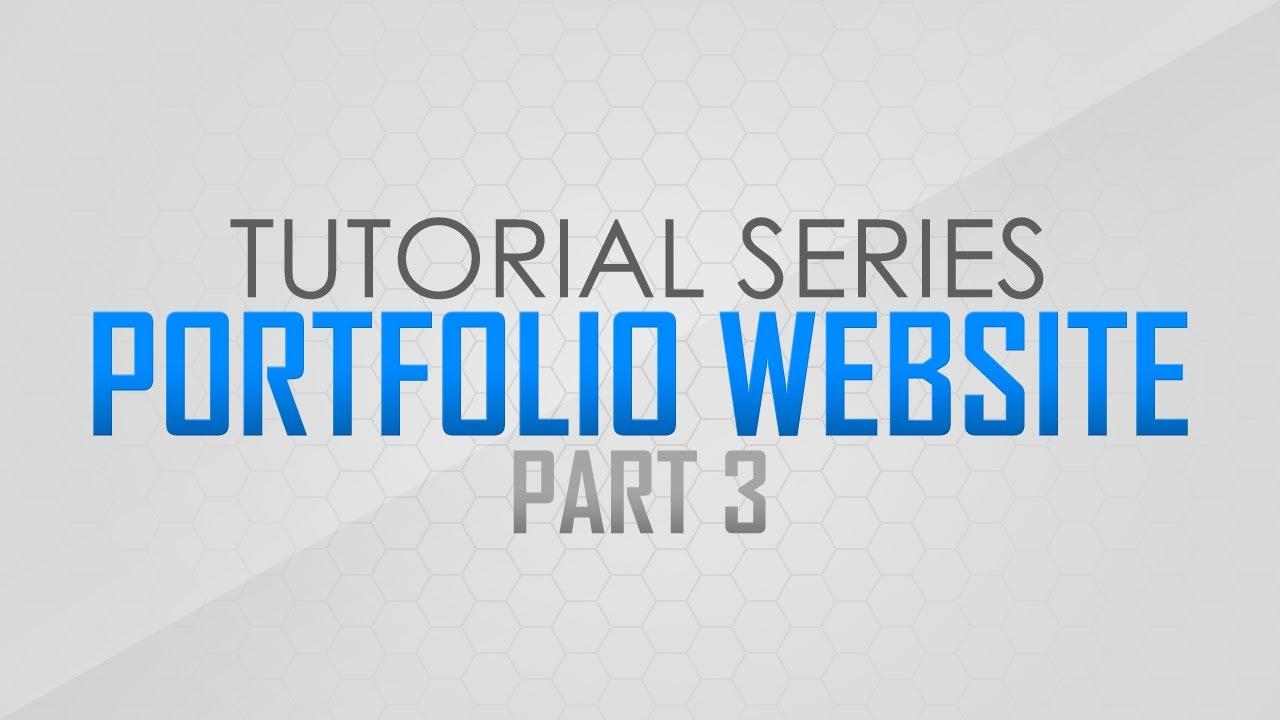 Photoshop Tutorial: How to Create a Portfolio Website | Pt. 3