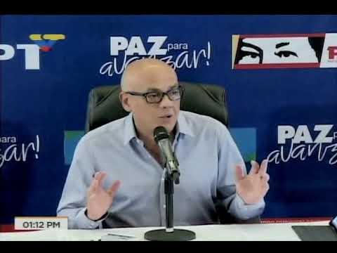 Jorge Rodríguez el lunes 16 de octubre tras elecciones regionales