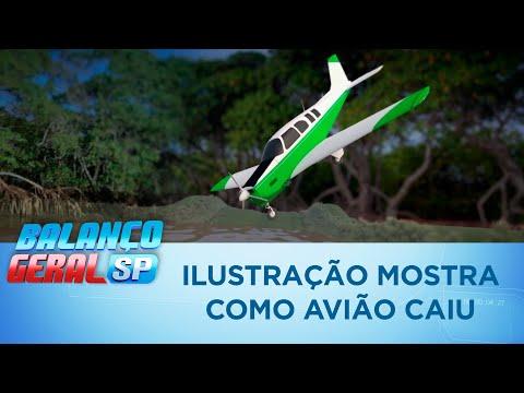 Ilustração mostra como avião de Gabriel Diniz caiu em Recife