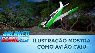 Baixar Ilustração mostra como avião de Gabriel Diniz caiu em Recife