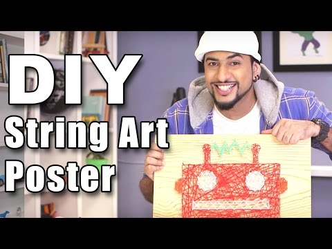 Mad Stuff With Rob - How To Make A String Art Poster | DIY Art & Crafts