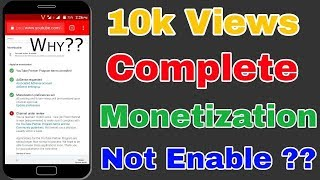 10K view complete but Monetization Under Review