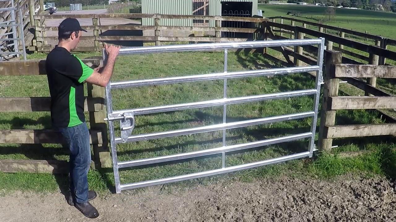 Cattle yard - Gates and Slam Latches - Kiwi Cattle Yards