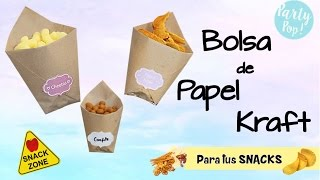 Bolsas de papel para tus Snacks en 2 pasos 😱  !Muy facil de hacer!😉  | Party pop!🎉 |