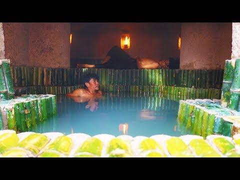 Build Underground Secret Tunnel Bamboo Swimming Pool And Underground Bamboo Mansion