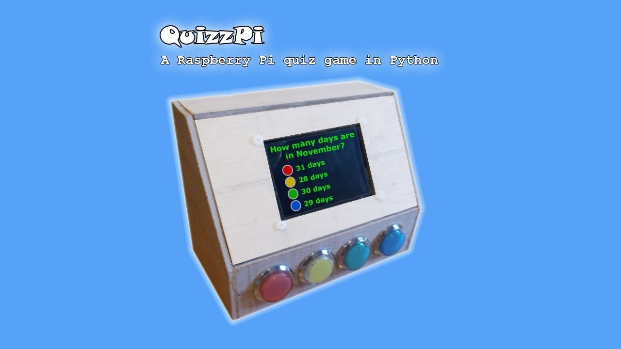 quizzpi a raspberry pi trivia game with python [ 1280 x 720 Pixel ]