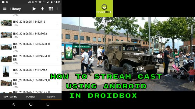 HOW TO STREAM CAST IN DROIDBOX USING ANDROID
