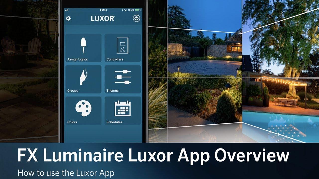 fx luminaire luxor app
