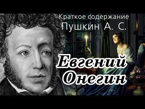 ОЧЕНЬ краткое содержание Евгений Онегин, Пушкин А. С. 2 минуты