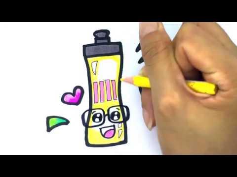 Belajar Menggambar Dan Mewarna Botol Minum Untuk Anak Youtube
