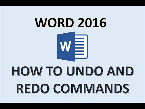 Word 2016 - Undo And Redo - How To Use Undo And Redo Shortcut Keys Button In MS Microsoft Office 365