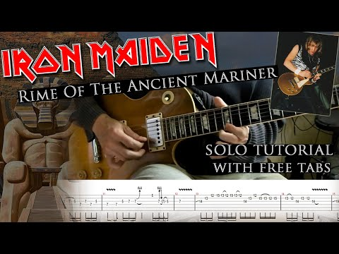 How to play Adrian Smith's solos #17 Rime Of The Ancient Mariner (with tabs and backing tracks)