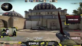 s1mple Na`Vi play de_dust2 stream, MM| Симпл Нави играет де даст 2 кс го на стриме