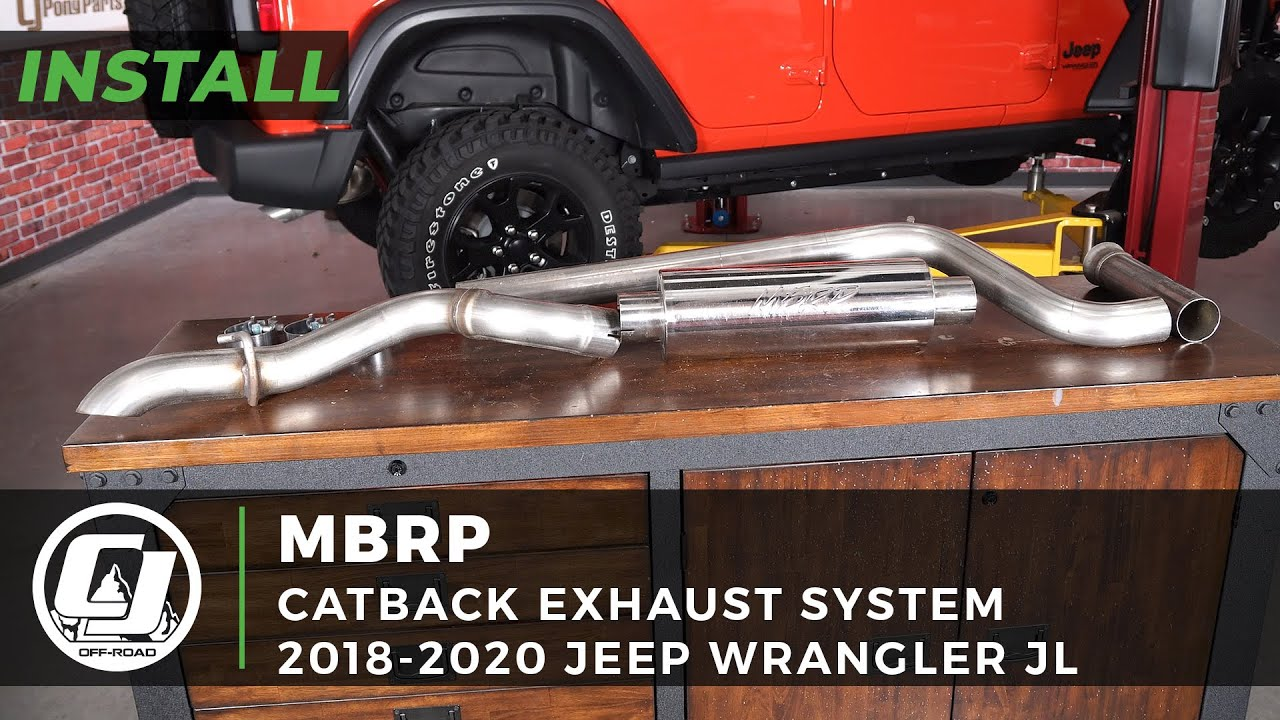 2018-2020 Jeep JL Wrangler Install | MBRP Catback Exhaust System