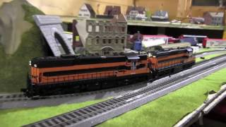 HO Scale Trains: American Locomotives Bessemer, Scale railroad