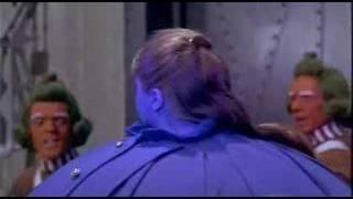 Violet Beauregard blows up like a balloon, blueberry.