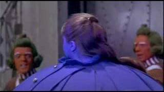 Violet Beauregard blows up like a balloon, blueberry. thumbnail